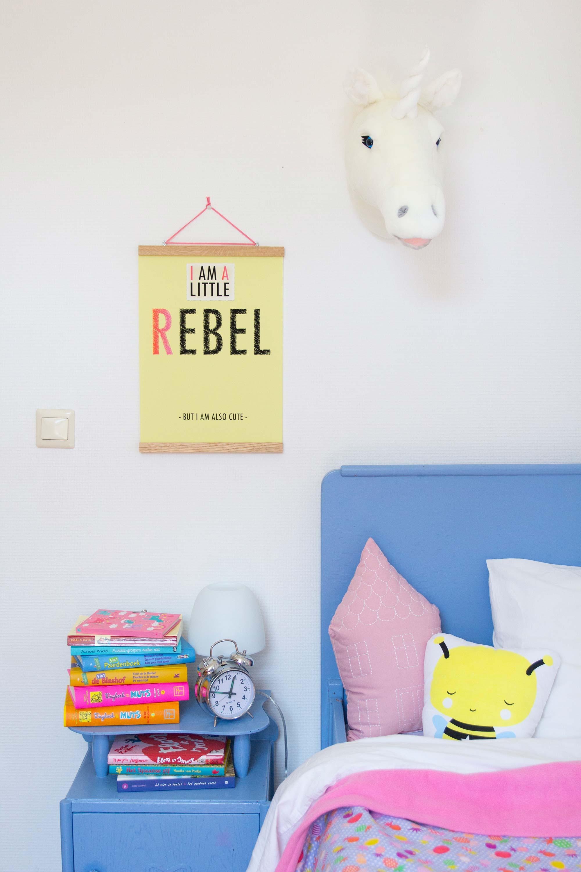Kinderkamer Elske bed poster kussens