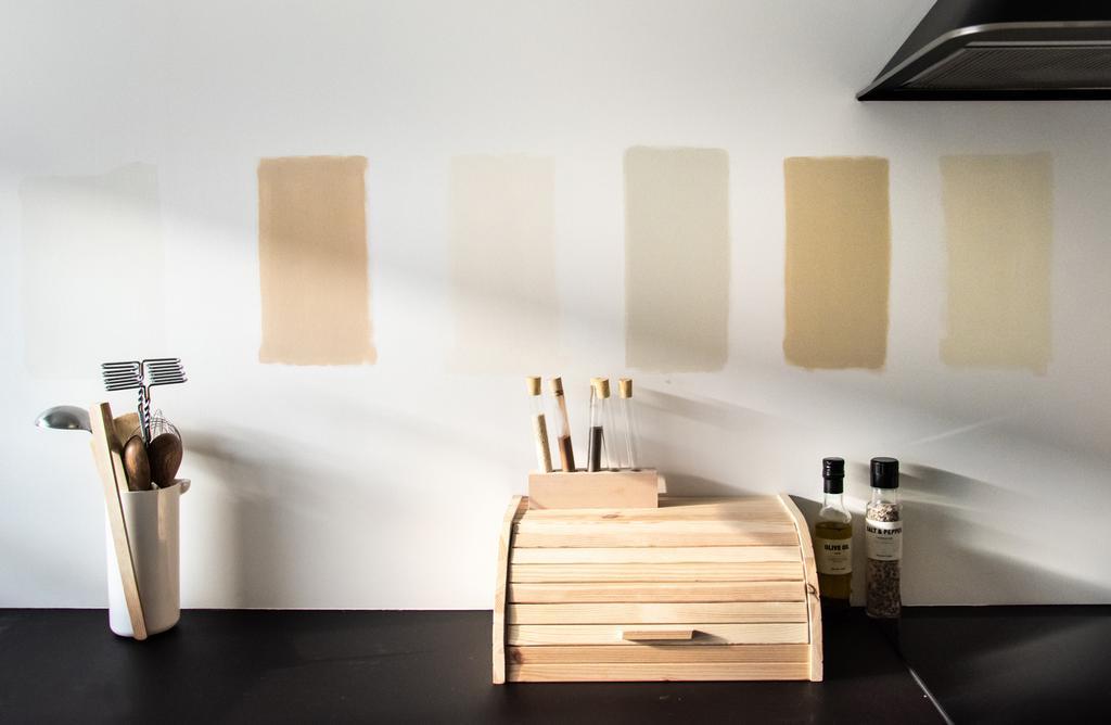 vtwonen blog Rachel Terpstra | kleur kiezen voor keuken met flexa creations testers kleurpallet verschillende basics