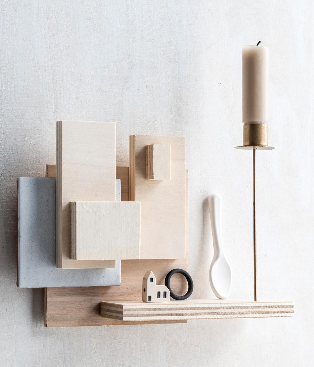 DIY wandkandelaar van hout | vtwonen 09-2020