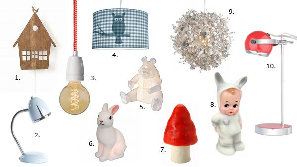 10 lampen kinderkamer