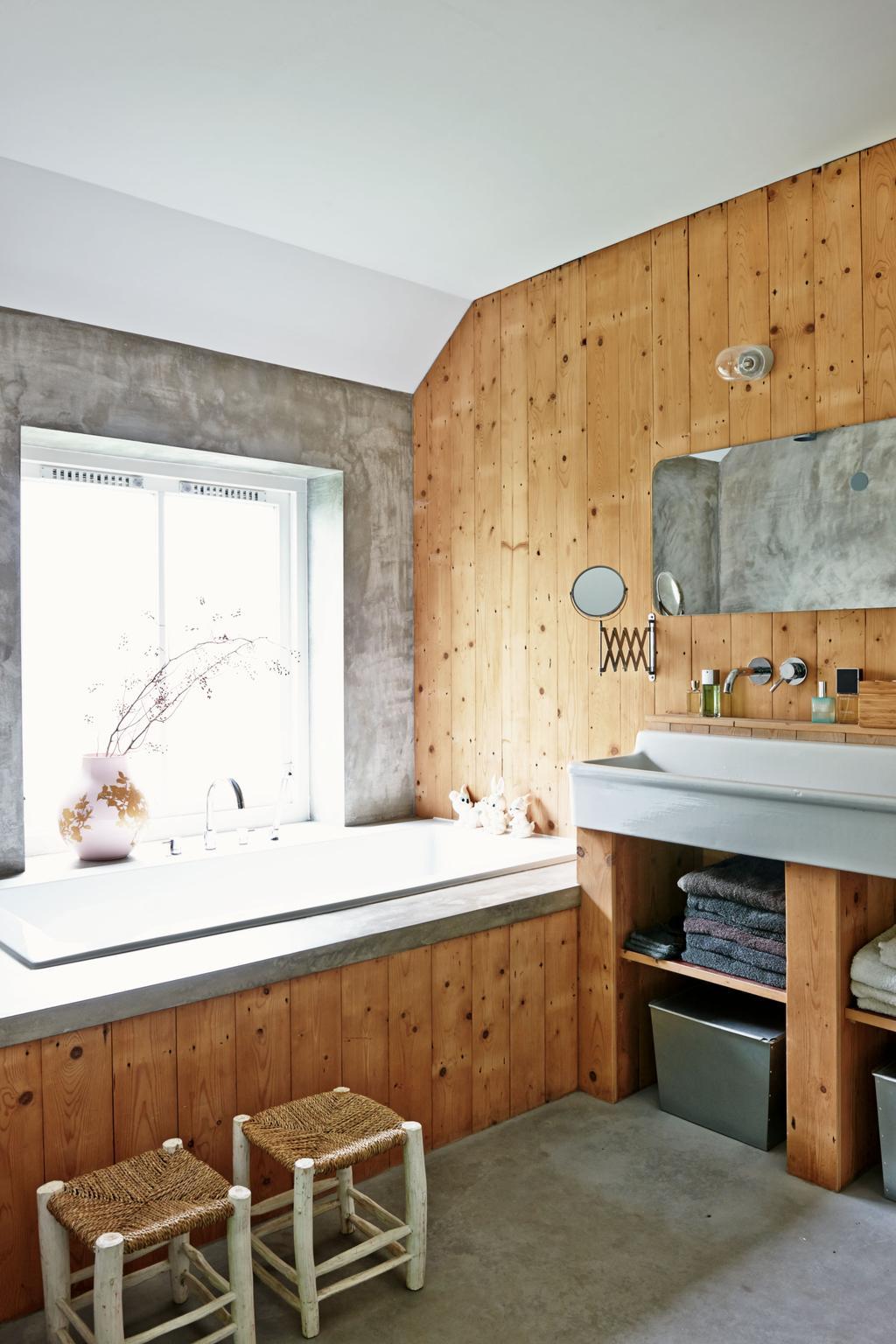 houten badkamer