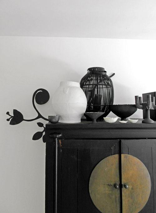 Chinese kast keramiek zwart