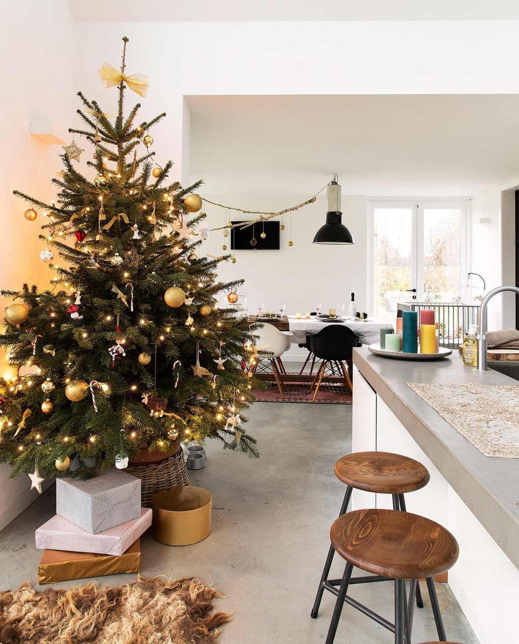 Kerstboom in de keuken