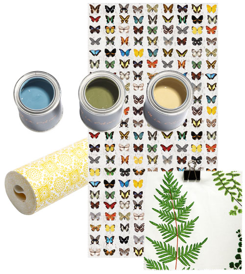 behang verf vlinderbehang krijtverf