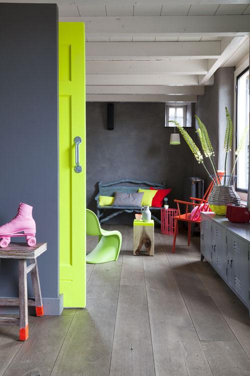deur fluor groen