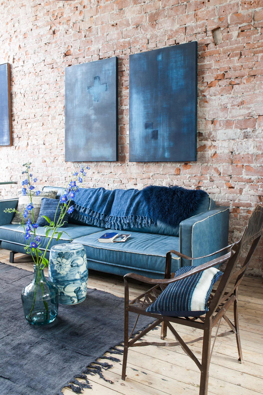 divan bleu