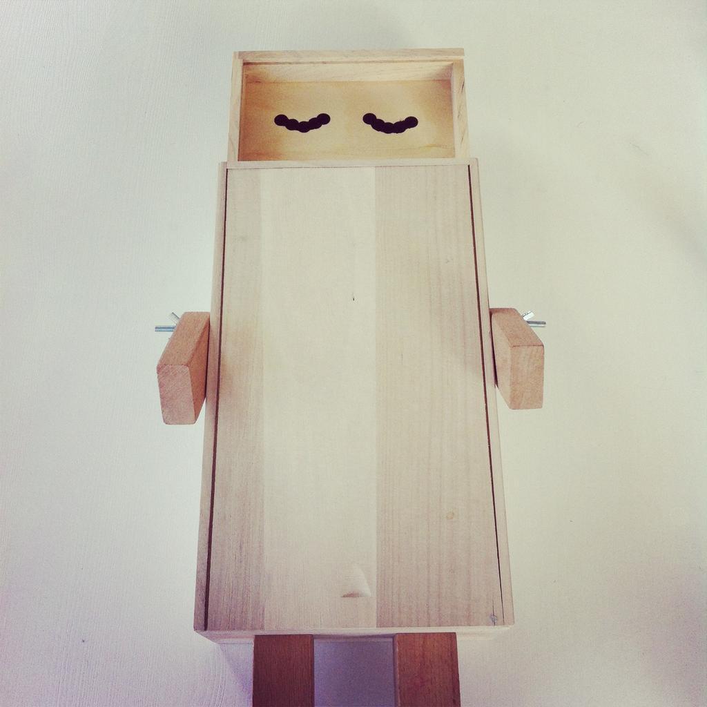 houten opberger