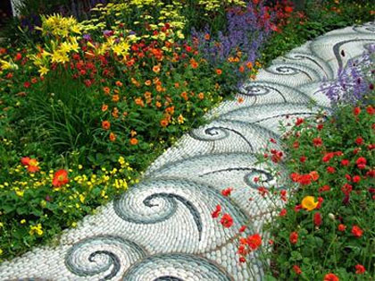 mozaiek pad