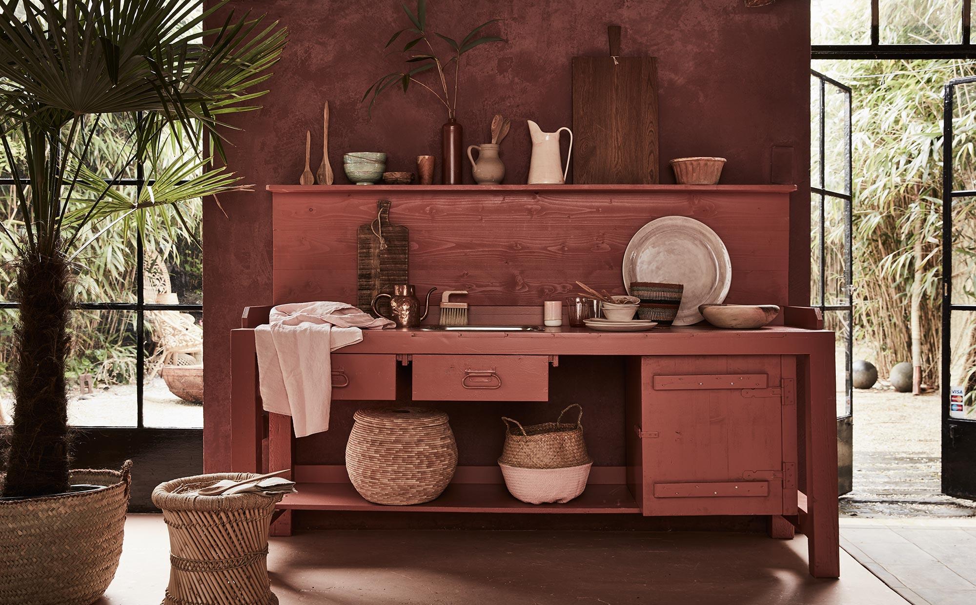 keuken in aardetinten