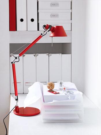 Rode bureaulamp