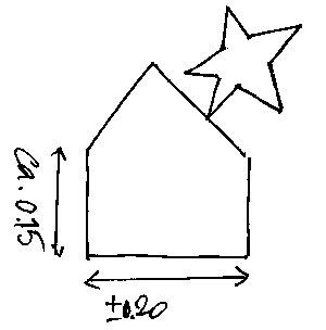 tekening van de kerststal