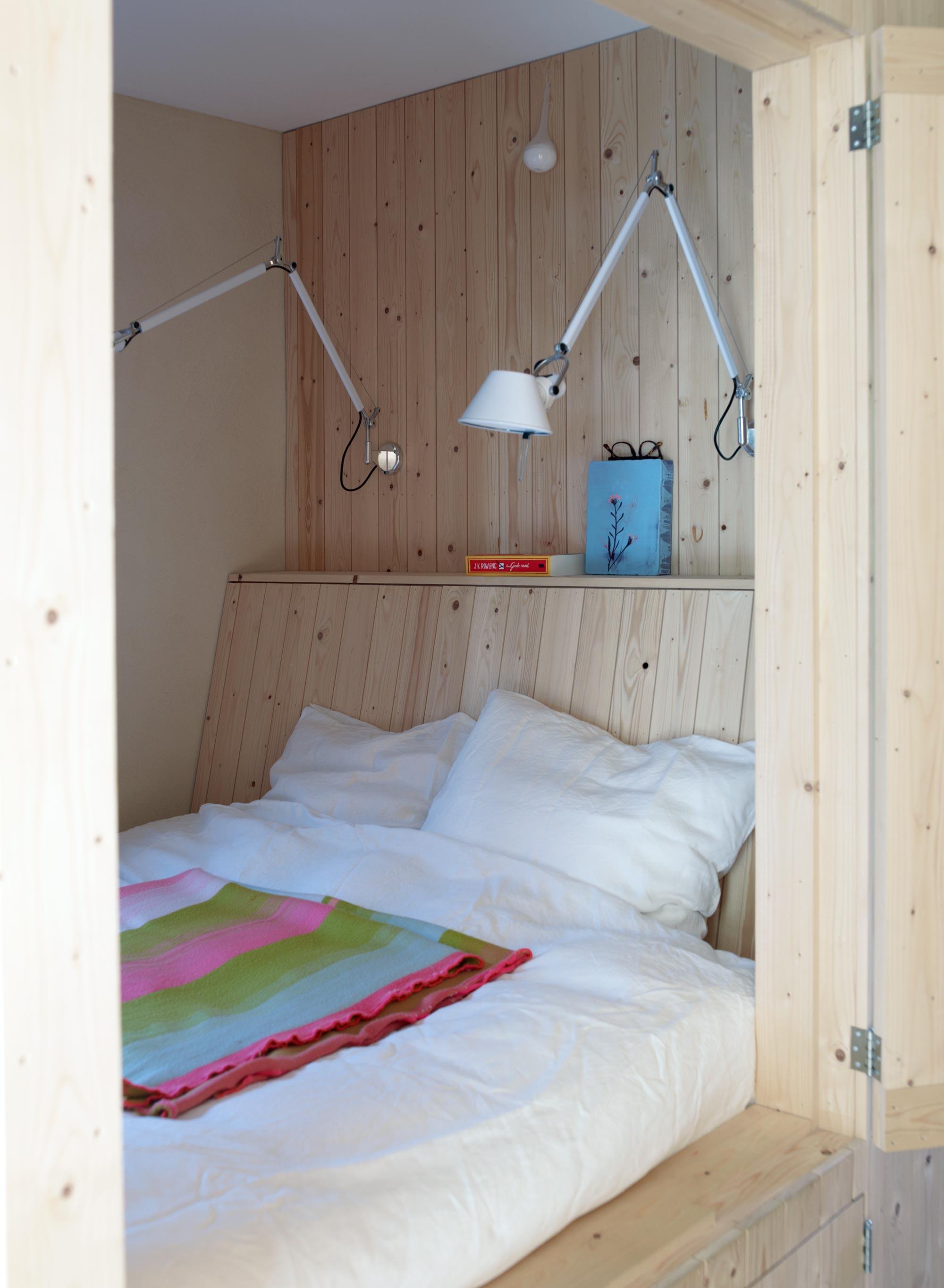 houten slaapplek