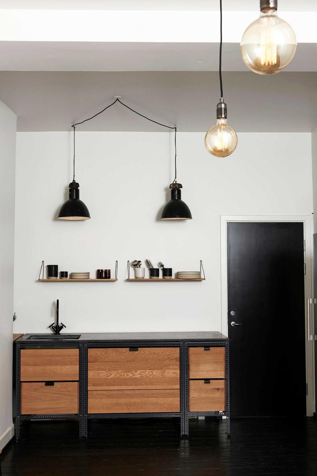 cuisine noir brun design
