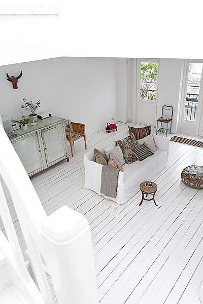 witte brocante woonkamer