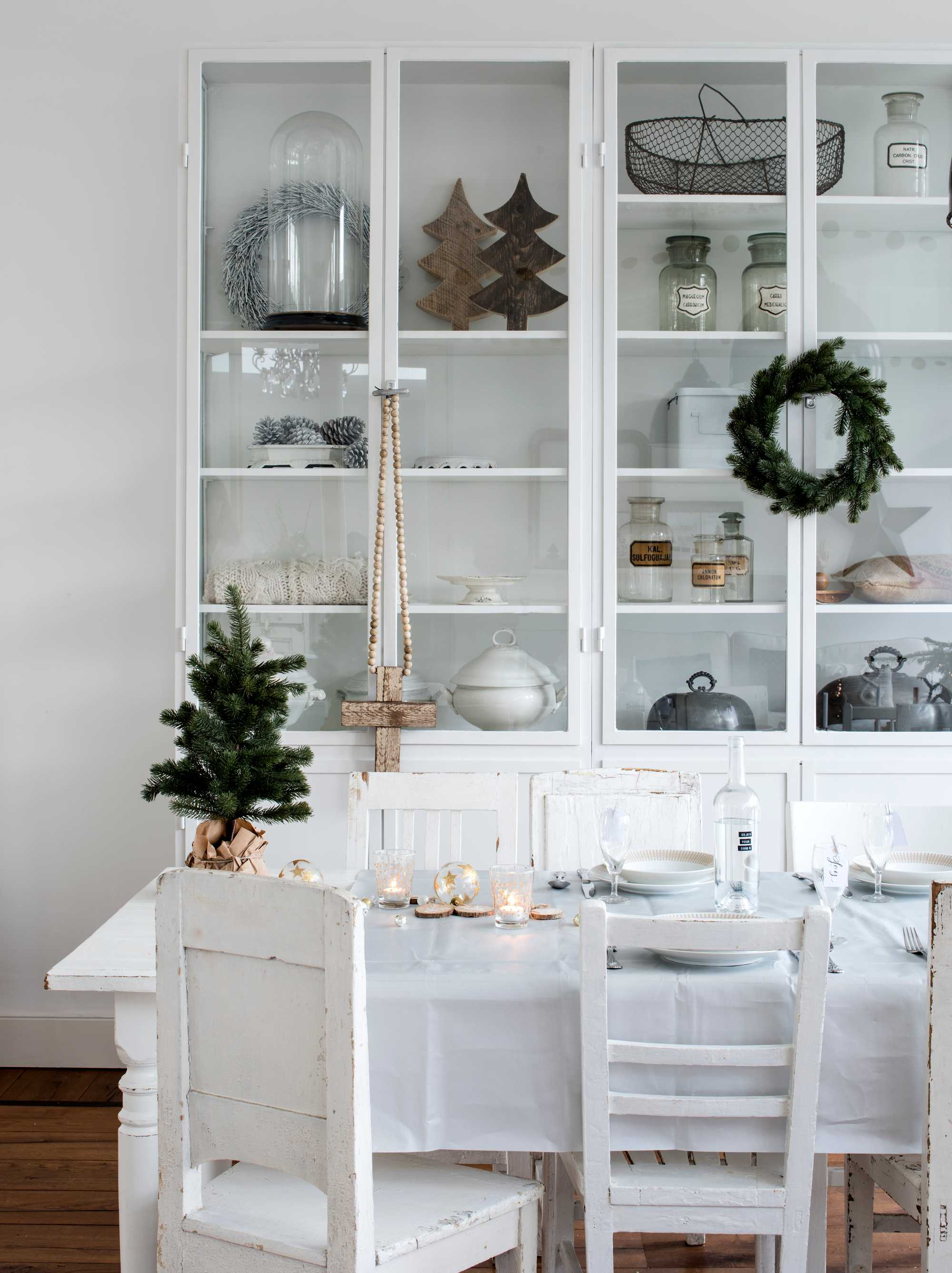 witte tafel kerst