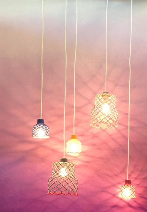 opgewerkte hanglampjes