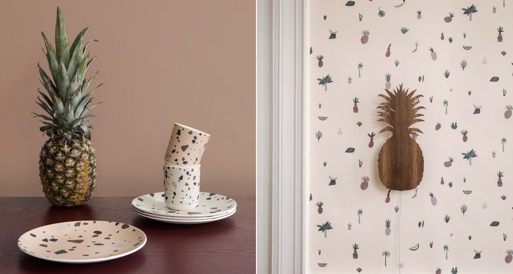 Lookbook Ferm Living Kids - Servies - Ananas lamp - Behang