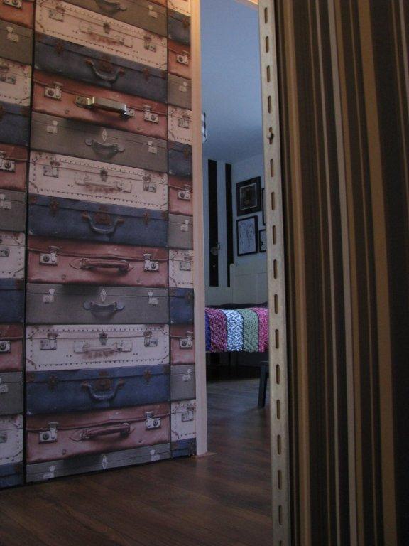 koffer behang
