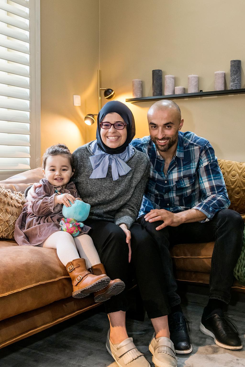 Moussa en Naima uit aflevering 6 van Een frisse start met vtwonen | Foto Jonah Samyn