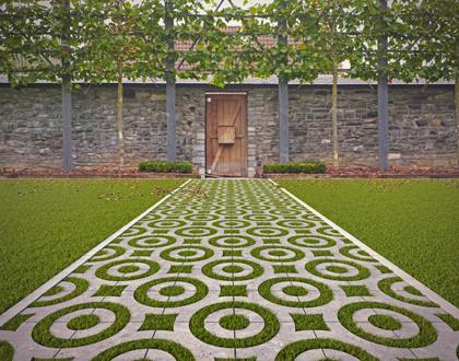 ecologisch tuinpad waterdoorlatende bestrating