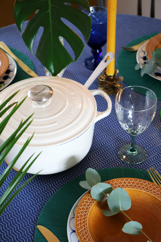 Groene tafelstyling