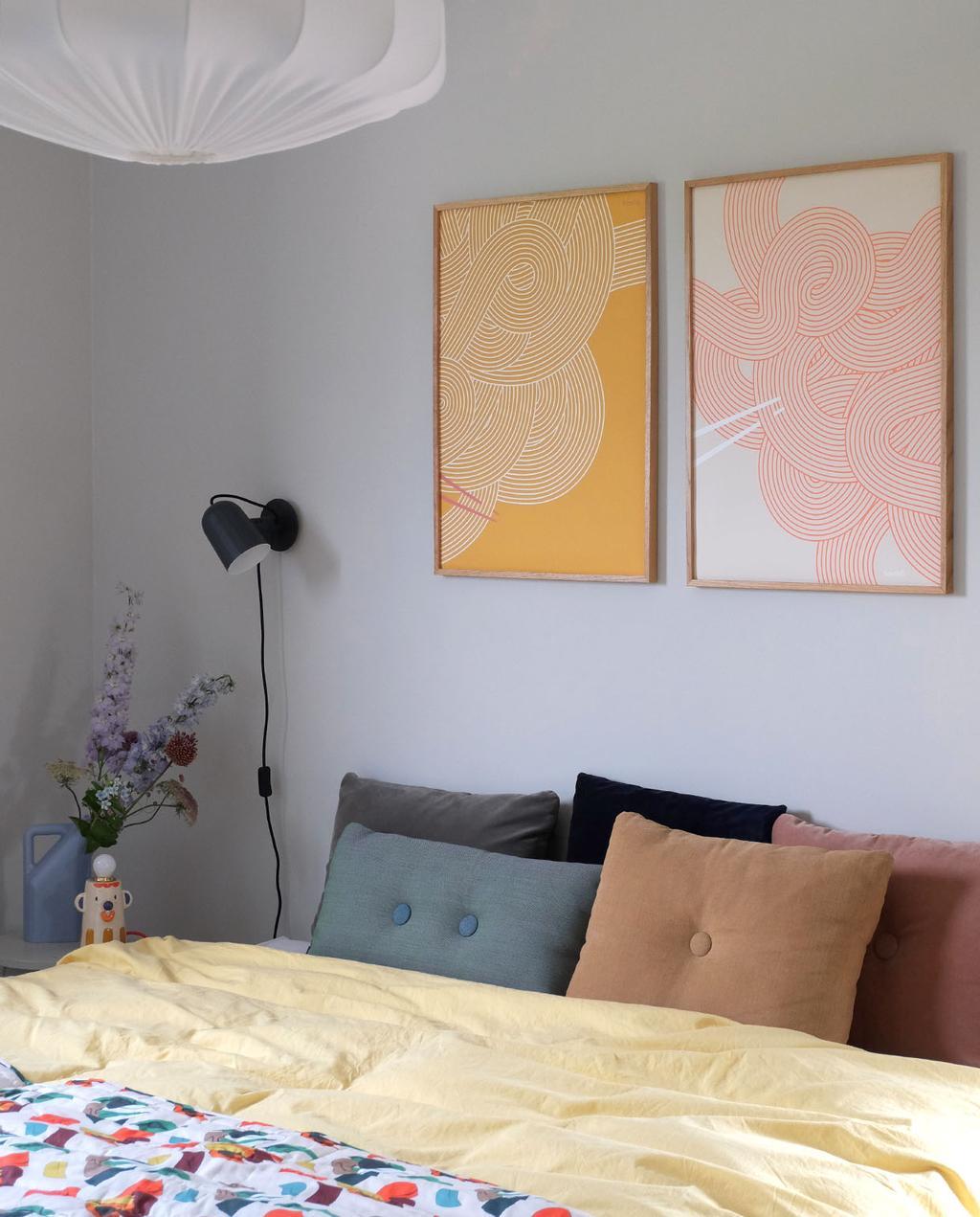 vtwonen blog prchtg | art wall oranje en rode abstracte print