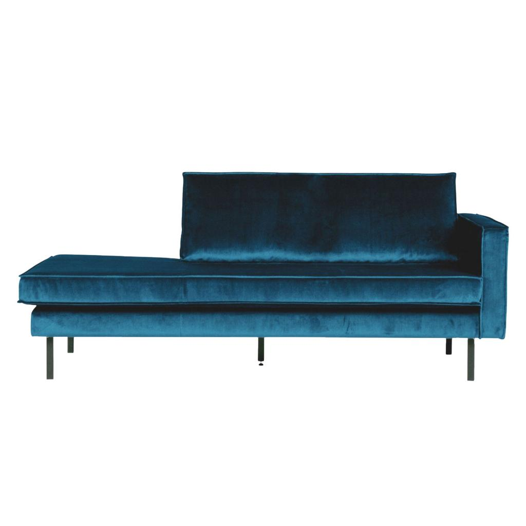 Blauw suede chaise lounge