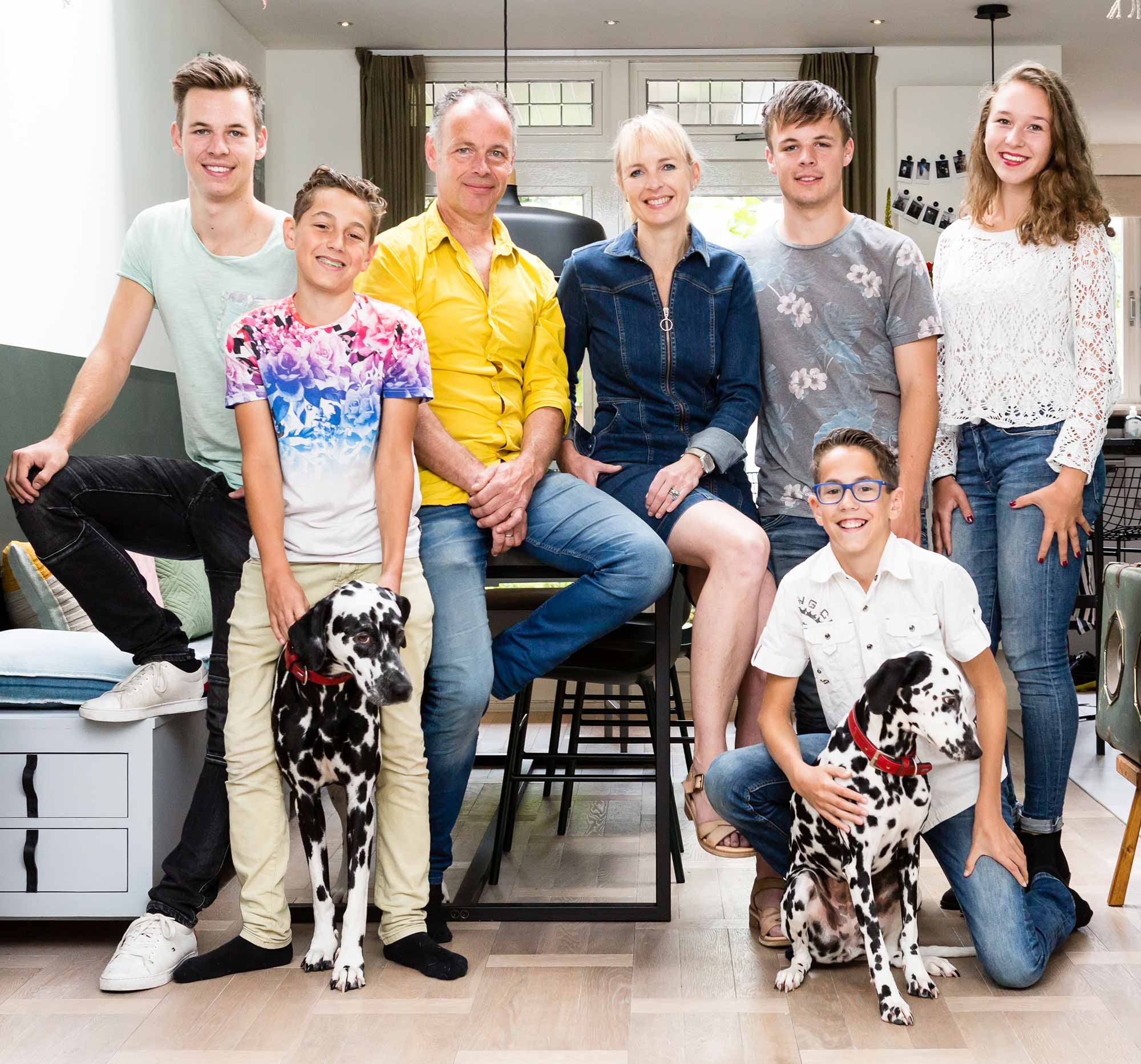 Portretfoto Familie uit Castricum