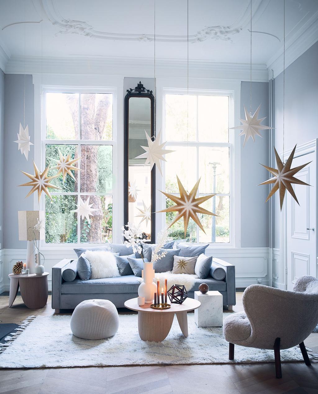 vtwonen 12-2019 | kerst woonkamer sterren