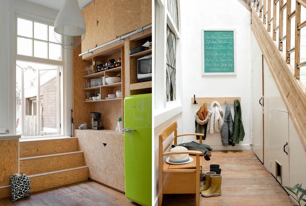 vtwonen binnenkijken in een keuken gemaakt van OBS platen