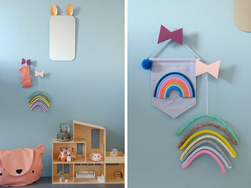 Design regenbogen van Lagom en Cubbie Tellkiddo mand in de kinderkamer van PRCHTG