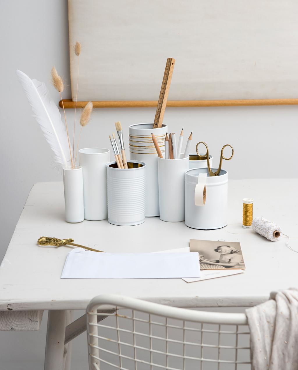 vtwonen 1-2020 | DIY small pennenbakje goud accent