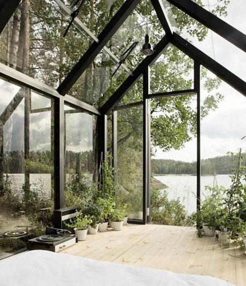 glazen zomerhuis