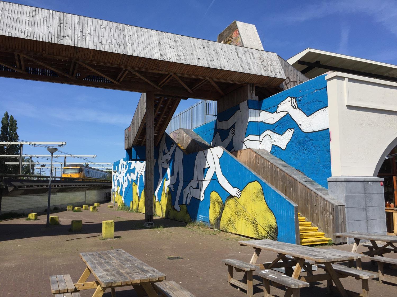 terasse graffiti - Rotterdam