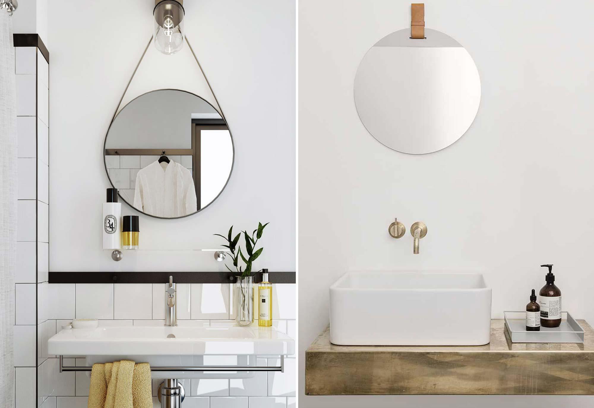 Badkamer - Spiegel - Wasmand