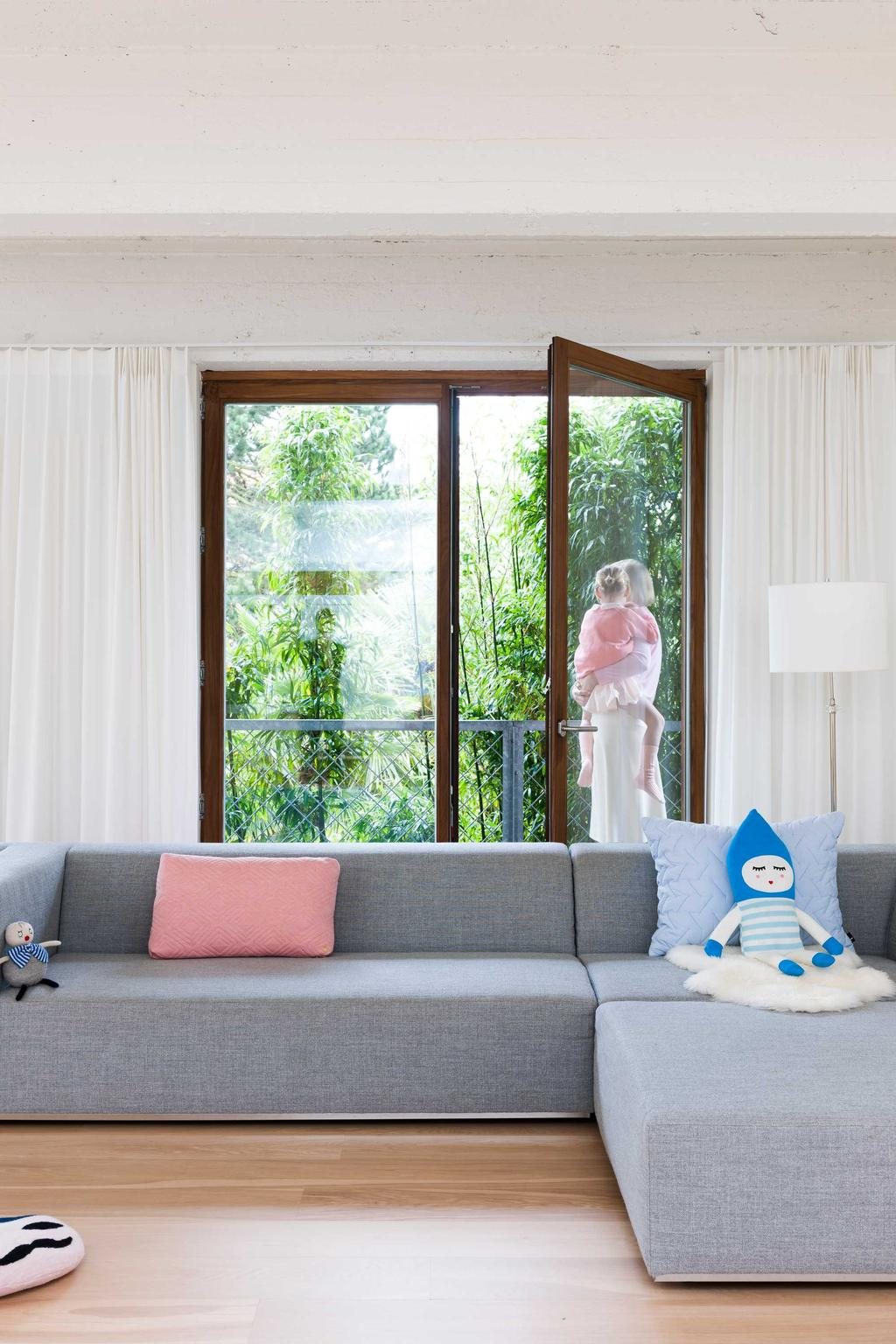 zetel raam roze