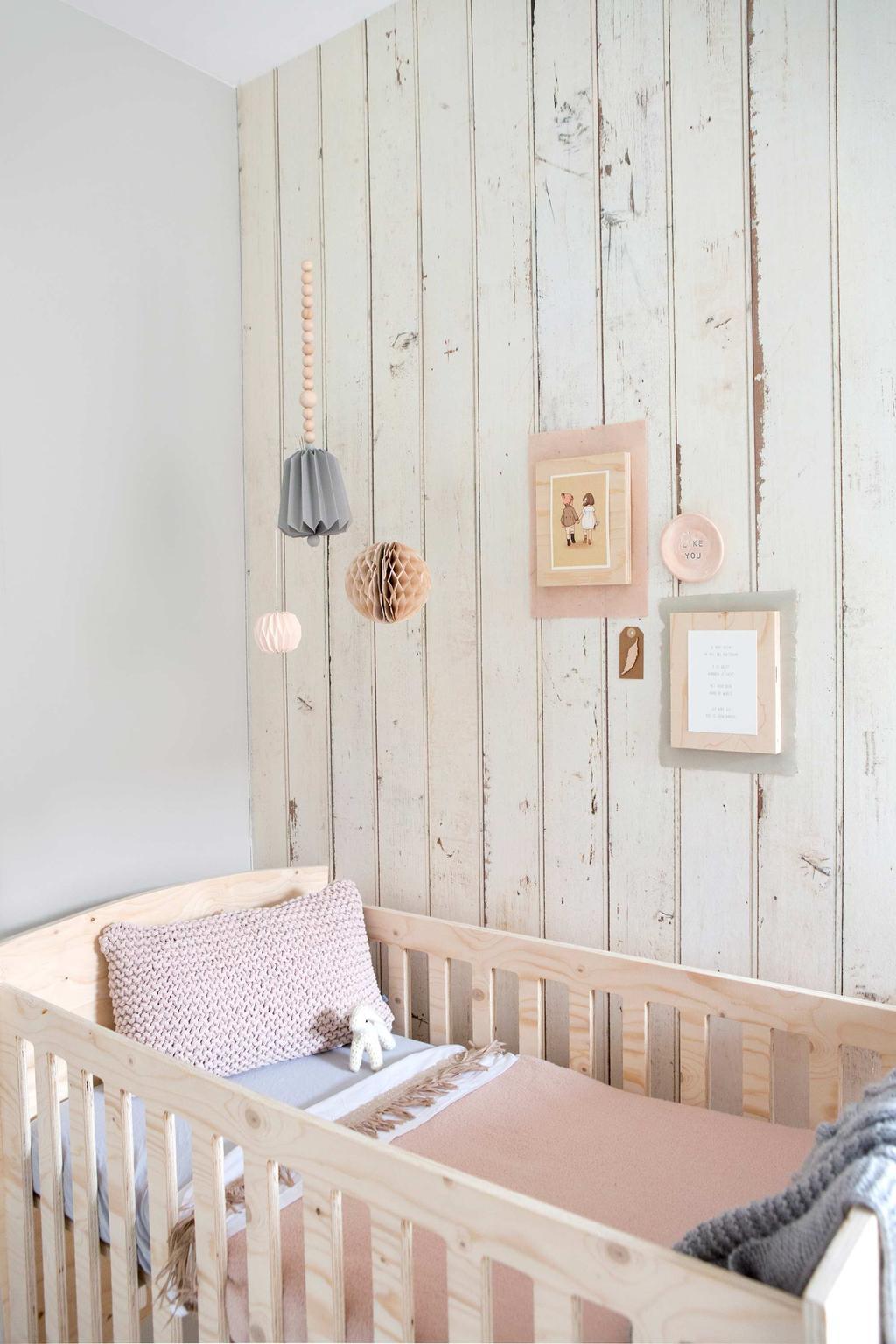 behang met planken