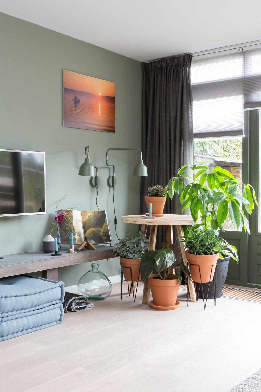 woonkamer inspiratie groen