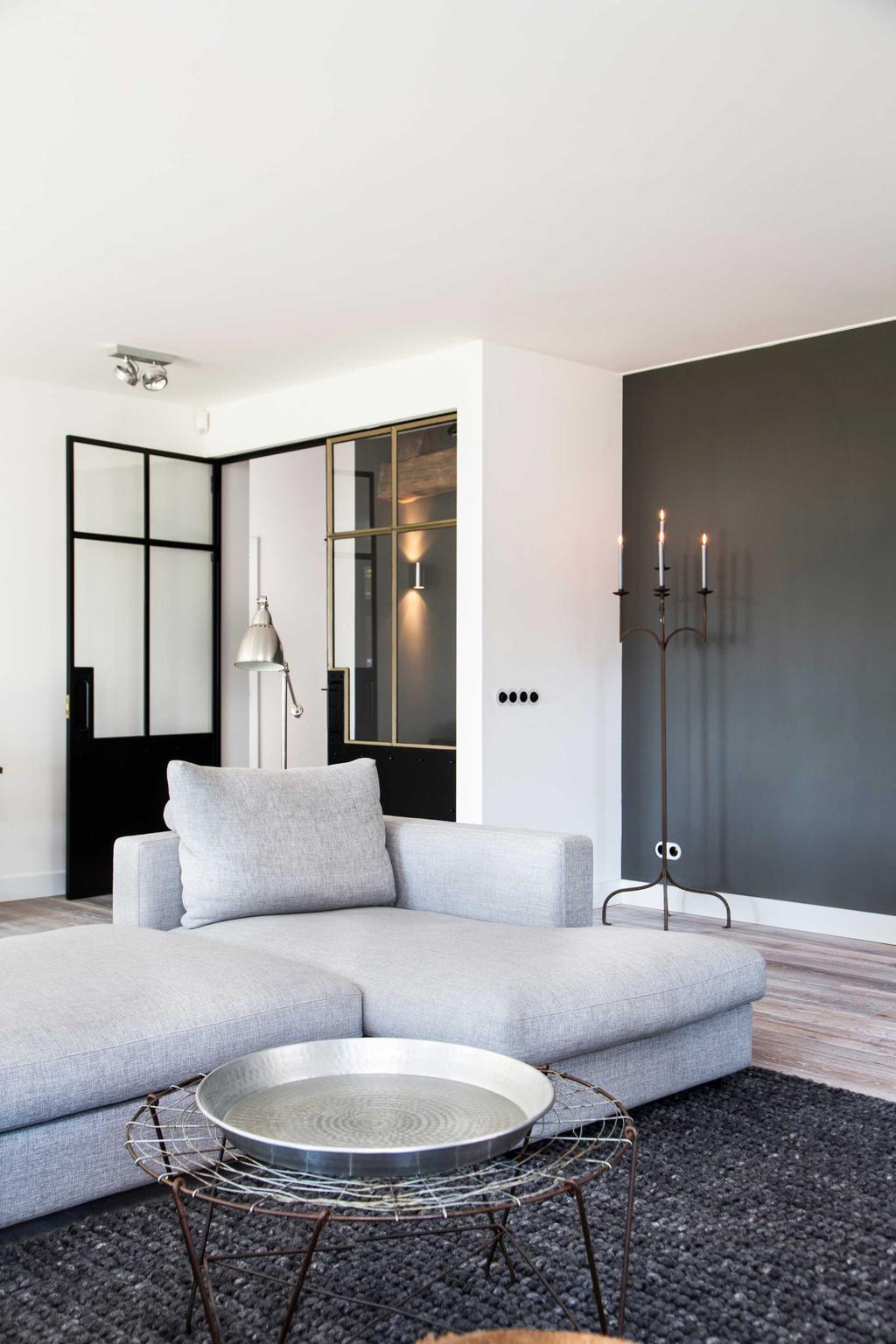 salon banc gris