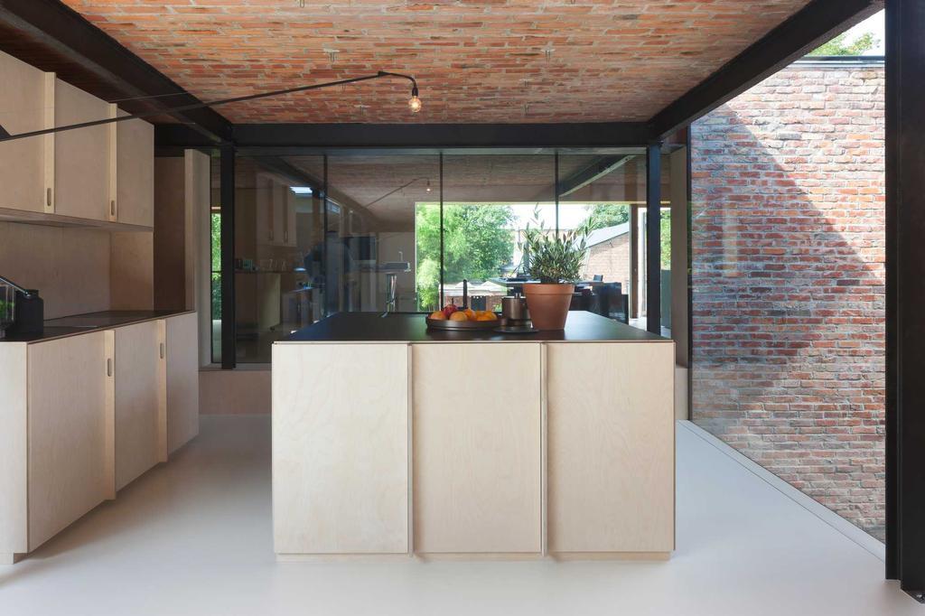 keuken hout glas