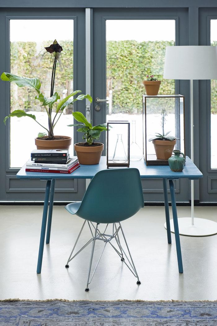 blauw bureau
