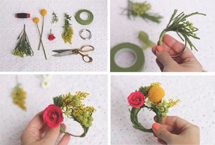 Bloemen servetring maken