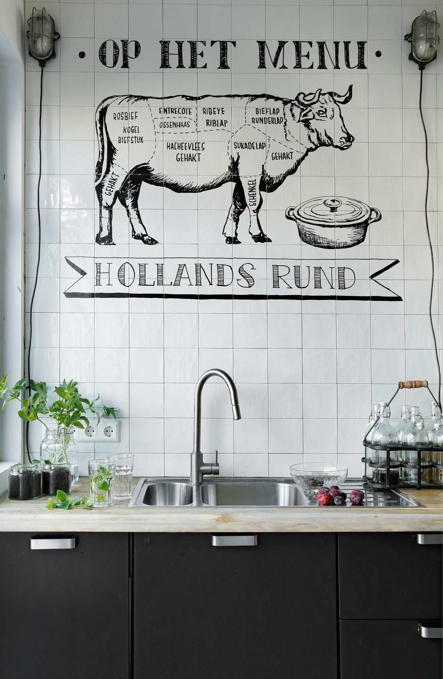 mur carrelé cuisine