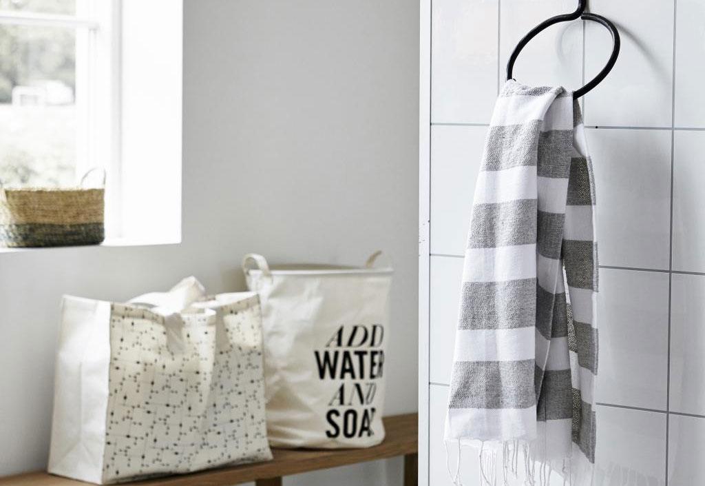 5 manieren om je handdoek op te bergen - Handdoekring