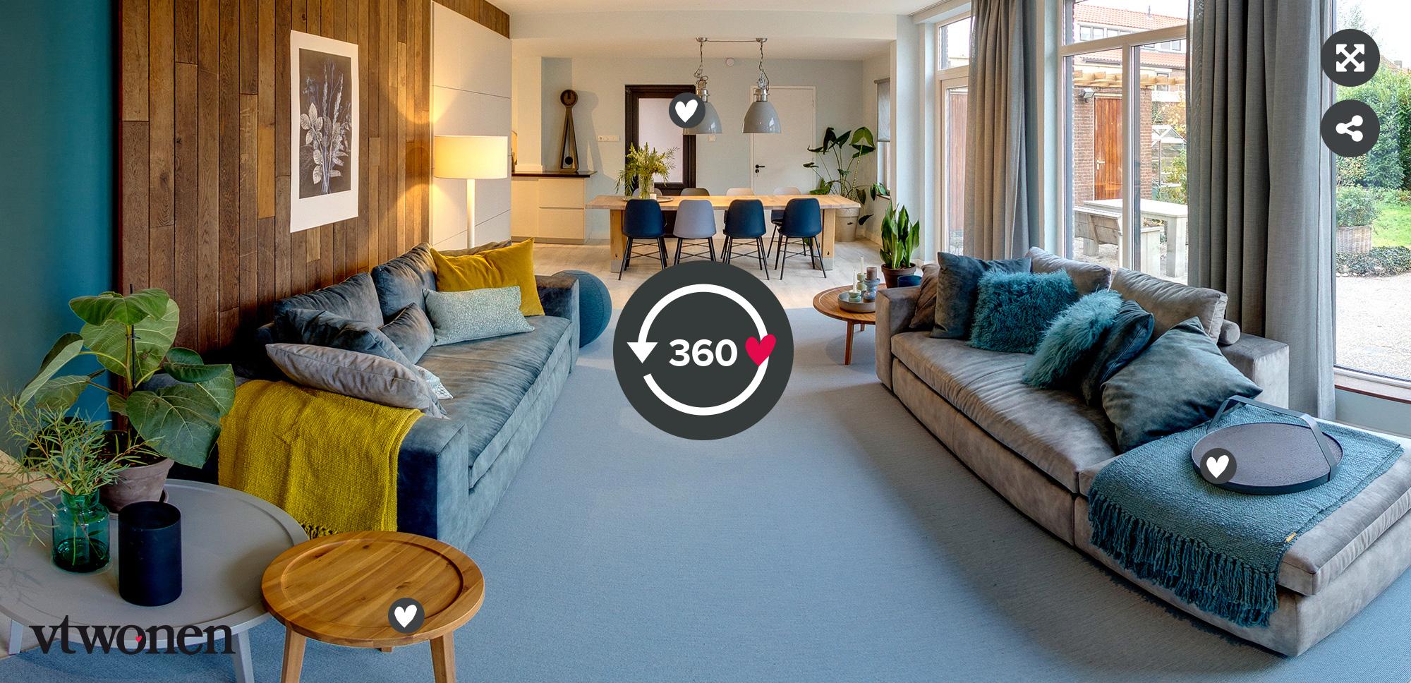 vtwonen verhuist aflevering 3 seizoen 1 - Stylist Marianne Luning - 360 tour