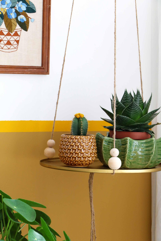 DIY-idee met groen: zwevende plank - Marij van My attic