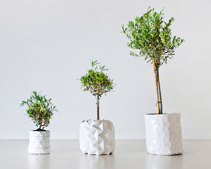 origami pot tuinieren