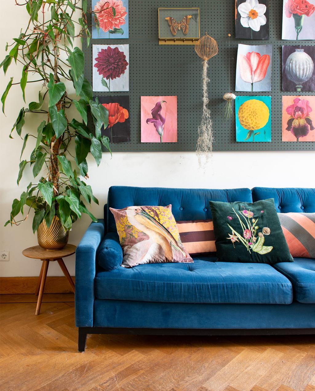 Blauwe bank | Botanische prints