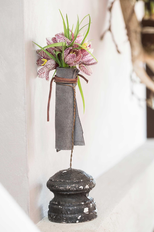 fleurs cuir tube