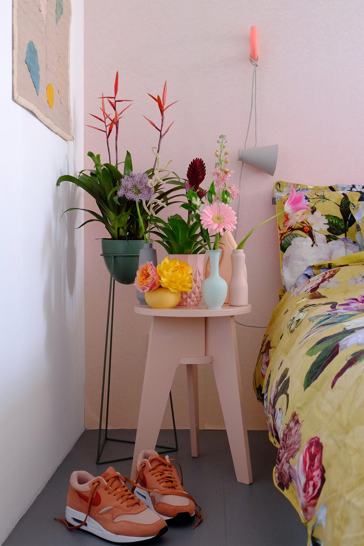 bromelia nachtkastje slaapkamer